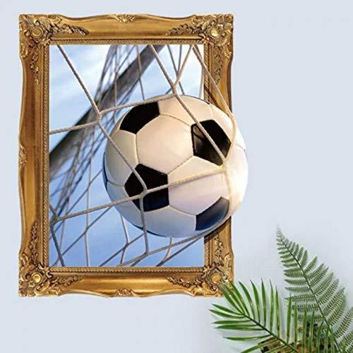 Abnehmbarer kreativer 3D-Wandaufkleber mit Fußballmuster für die Dekoration