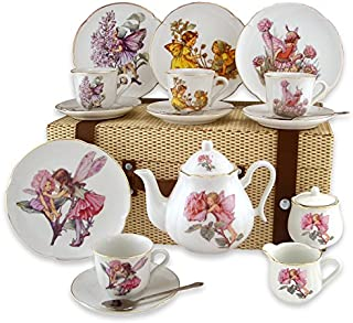 Reutter Porcelain Large Flower Fairy Tea Set