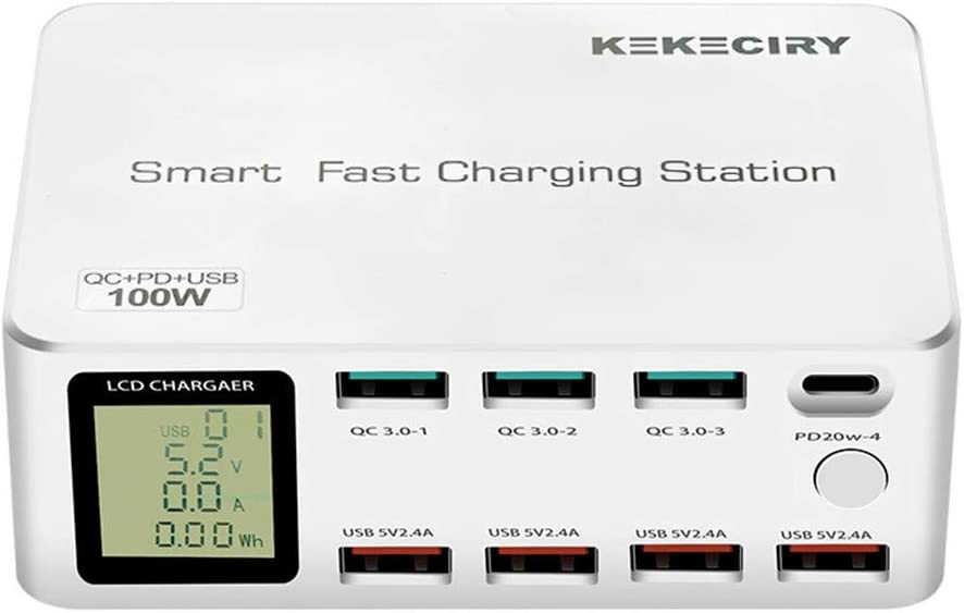 online shopping KEKECIRY 100W Smart Time sale Fast Charging Station Multi 8 LCD with Plug