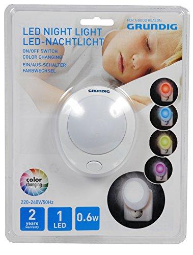 Grundig LED - nachtlampje, plastic, wit, 8,7 x 7 x 7,5 cm
