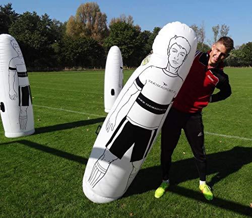 CHENKLE Aufblasbare Torhüter, aufblasbares Fußball-Dummy Defender Training Mannequin Fußballtraining Werkzeug, Luft Mannequin Free Kick Defender Wand für Fußball-Praxis