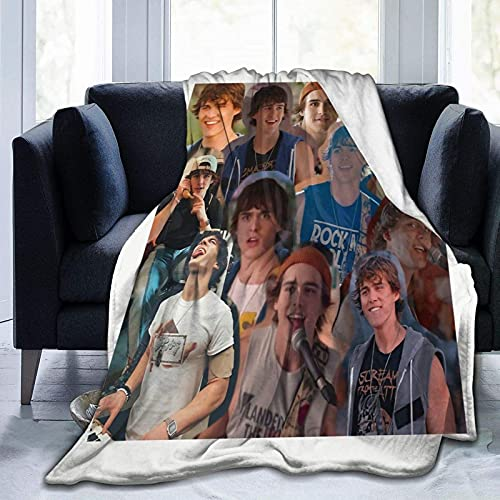 Charlie Gillespie Collage Throw Blanket Suitable Ultra Soft Weighted Bedding Fleece Blanket for Sofa Bed Office 50'x40' Travel Multi Size for Adult