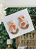 Coral White Modern Lightweight Polymer Clay Earrings