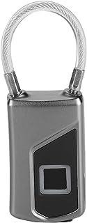 Candado de Huella Digital Inteligente, Cerradura de Seguridad Antirrobo Sin Llave IP66 Impermeable con Reconocimiento de Huellas Dactilares Carga USB