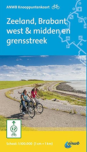 ANWB knooppuntenkaart fiets Zeeland, Brabant west & midden en grensstreek
