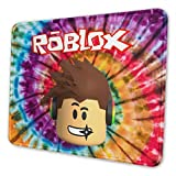 HUAJIELONG Gaming Mouse Pad, Computer Desk Pad Non-Slip Mouse Pad with Seam Edge, Rubber Base for Office and Home Use 10 x 12 inch - Rob-lox