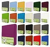 leevitex Drap housse en jersey 100% coton dans diverses tailles et couleurs-Conforme à la qualité Oeko-Tex Standard 100, 100 % coton, rose bonbon, 90x200 - 100x200 cm