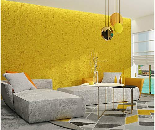 YB&GQ Gris Textura De Hormigón Papel Pintado,Extraíble Impermeable Vinilo Película De Muebles para Pararo De Cajón De Estante,Color Sólido Realzado Efecto Cemento Papel Tapiz Amarillo 21x394inch