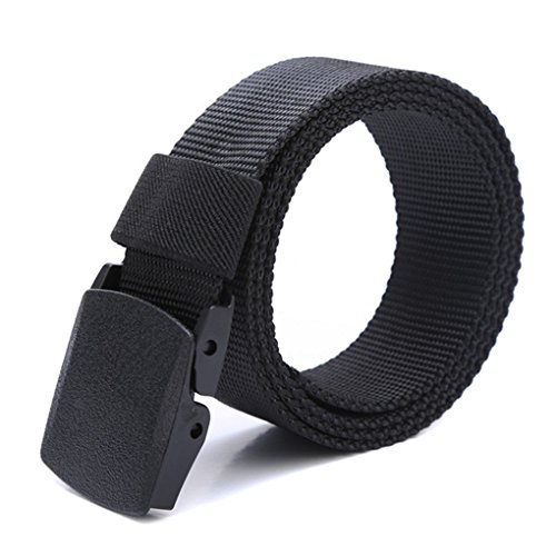 Republe Uomini Ragazzi Tela traspirante tattico Cintura con fibbia di plastica Cinture Solid Vita cinghia salvataggio della corda della fascia