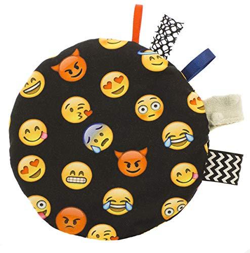 Kirschkernkissen Kinder-Wärmekissen Wärmflasche Trockenes Thermo-Kissen gefüllt mit Kirschsamen Sensorisches Spielzeug -zweiseitiges Motiv! Emoticon Emoji Schwarz [088]