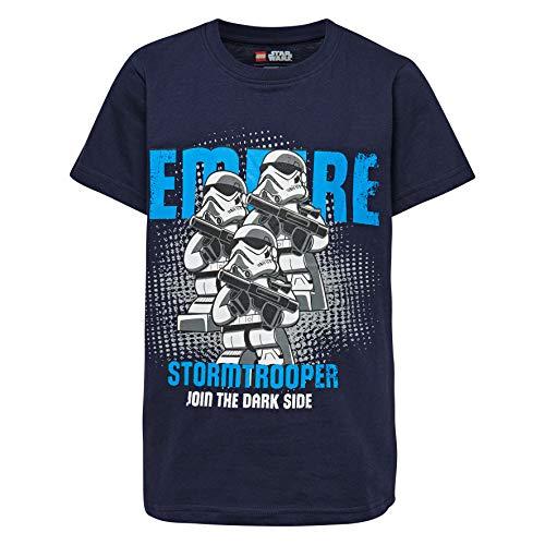 LEGO Jungen Boy Star WARS-CM-50100-T-SHIRT T-Shirt, Mehrfarbig (Dark Navy 590), 110