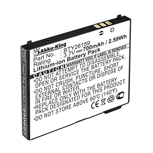 Akku kompatibel mit Elson EL590, EL570, EL520 - ersetzt BTY26159ELSON - Li-Ion 700mAh