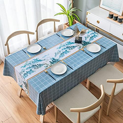 XXDD Mantel Rectangular para Sala de Estar, Lona de plástico y Cubierta de Mesa de café Impermeable, decoración de Mesa A4 140x160cm