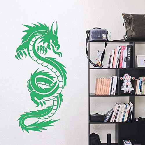 Drachen Vinyl Kunst Wandaufkleber Poster Wohnzimmer Dekoration Schlafzimmer Aufkleber Chinese Dragon Decor ~ 1 57 * 122 cm