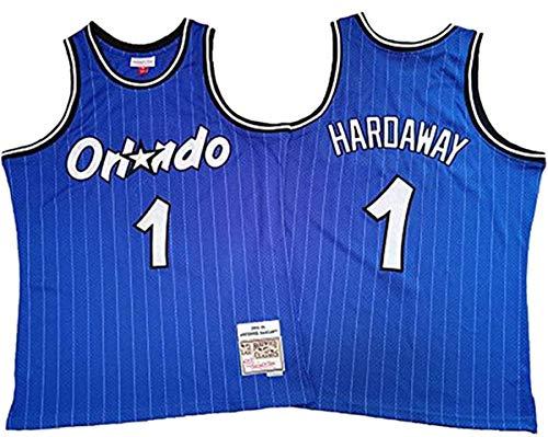 Camisetas De La NBA para Hombre, Camiseta Mágica Anfernee Hardaway N. ° 1, Uniforme De Ventilador Unisex All-Star De Tela Fresca Y Transpirable,2,S (165~170CM / 50~65KG)
