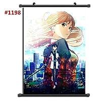 日本のアニメソードアートオンラインファブリック絵画アニメの家の装飾壁のスクロールポスター19.7x29.5inch / 50x75cm