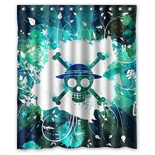 None brand Cooler Anime One Piece wasserdichter Duschvorhang aus Polyester-180 cm x 240 cm
