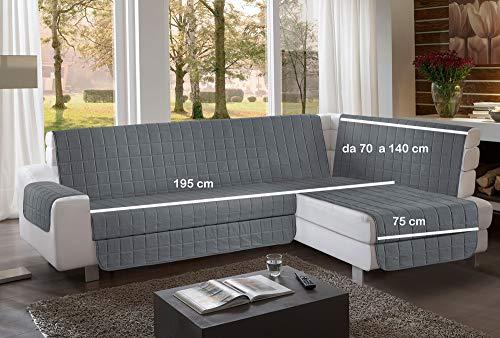 la biancheria di casa Simplicity Plus Angle Copri Salva Divano per divani ad Angolo (195 cm, Grigio Scuro)