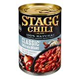 Stagg Classic Chili with Beans 15oz Can (Pack of 12) Spicy Slow Simmered Two Bean Chli