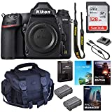 Nikon D780 DSLR Camera (Body Only) || 24.5MP FX-Format || UHD 4K30 Video || 3D Tracking || Wi-Fi with Padded Shoulder Case, Photo & Video Edition Software Package and 128GB High Speed Memory
