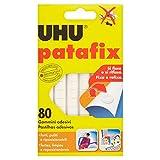 UHU Patafix 41710 - Gomma adesiva removibile, Bianco, confezione da 80 gommini...