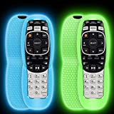 2 Pack Protective Case for DirecTV RC73 Remote Control,Silicone Cover Remote Controller Skin Sleeve Replacement Compatible with DirecTV RC70,RC70H,RC71,RC71H,RC72,RC73B-Glow Blue,Glow Green