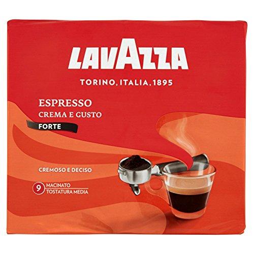 Lavazza Caffè Macinato per Macchina Espresso Crema e Gusto Forte - 5 confezioni da 500 gr [2.5 Kg]
