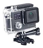 Somikon 4K-Actioncam: 4K-Action-Cam für UHD-Videos, 2 Displays, WLAN, 16MP-Sony-Sensor IP68 (Webcam WLAN Outdoor)