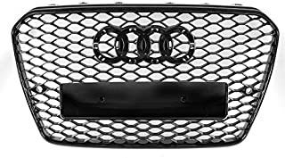 ZMAUTOPARTS For 2013-2017 Audi A5 / S5 B8.5 RS5 Style Honeycomb Mesh Hex Grille Gloss Black