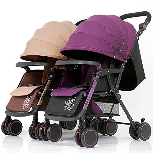 Kinderfiets HAIZHEN Dubbele wandelwagen Twin kinderwagen Afneembare vouw lichtgewicht Suspensie Pasgeboren baby voor pasgeboren