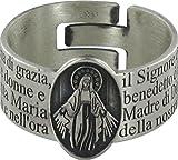 STOCK: Anello in argento 925 con l'incisa preghiera Ave Maria misura italiana n°21 - diametro interno mm 19,4 circa