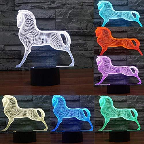 Luces de ilusión 3D,7 colores Acrílico Plano LED Sensitive Touch Sensor Lámpara Cargador usb luz nocturna Touch botón regalo creativo casa oficina decoració,regalo de Valentín (Auriculares)