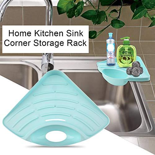 GFGHH Modern Design Home Kitchen Sink Corner Storage Rack Solid Color Sponge Drainboard Bathroom Holder Organizer Accessories