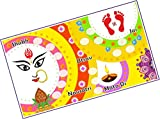 24 Cards Color Type: Coloured, Stuff: Thick Paper, Shape: Rectangle Product Item: Designer Kukuba, Product: Kukuba Theme: Navratri, Tags: Navratri, Festival Order multiple units of product to get more unique cards for kitty party, clubs, occasions
