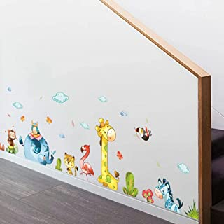 Cartoon Party Cute Animals Wall Stickers for Home Decoration Kids Baby Rooms Bedroom Nursery Mural Art Decals Sticker Wall...