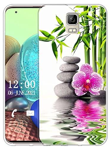 Sunrive Kompatibel mit UMI Rome/Rome X Hülle Silikon, Transparent Handyhülle Schutzhülle Etui Hülle (X Blume)+Gratis Universal Eingabestift MEHRWEG