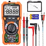 Ruoshui Digital Multimeter, True RMS 6000 Counts Auto-Ranging Amp Volt Ohm Meter, Electrical Tester with NCV Function, AC/DC Voltage Current Detector with LCD Display, Backlight and LED Jacks
