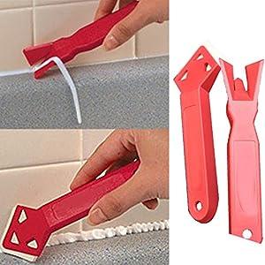 SADA72 – Juego de 2 herramientas para quitar lechada de plástico y rascador de cemento para el hogar, la cocina, el baño, etc.
