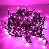 サングッド 【200黒】クリスマスイルミネーション 200LEDイルミネーション 防水仕様 長さ22m LED200球 100Vコンセント 保証180日間 5色あり (ウォーターピンク)
