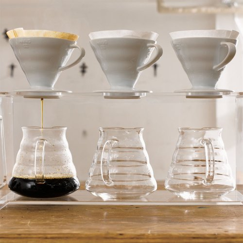 Hario V60's grooves improve the airflow when making pour over coffee