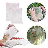50ピース野菜防虫ネットバッグ、再利用可能なフルーツ保護ネットバッグ、フルーツを保護するナイロンメッシュバッグ