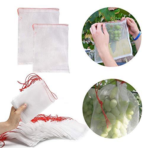 EMVANV Filet de Jardin 50 pièces/lot pour légumes, moustiquaire, Filet en Nylon pour protéger Les Plantes et Les Fruits 15x25cm Voir Image