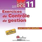 DCG 11 Exercices de contrôle de gestion - Avec corrigés détaillés