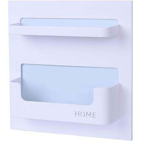 Bright Life Bedside Shelf Bedroom Dorm Room Rack Organizer Storage -Use as Kid Student Nightstand to Organize Headphone,Remotes,Glass,Cellphones(Horizontal Type)