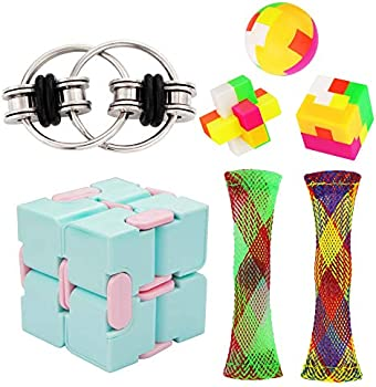 7-Pack Vqvaaq Infinity Cube Flippy Building Block Puzzle Toy