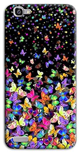 Mixroom - Cover Custodia Case in TPU Silicone Morbida per Huawei Ascend P8 Lite Smart M575 Farfalle Multicolore