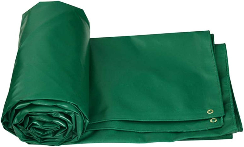 Abdeckplane LITING Regenfestes Tuch wasserdicht und staubdicht im Freien verdickend Multifunktionssonnenschutz (Farbe   Grün, Größe   5  4m)