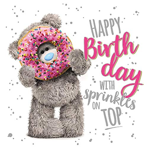 Happy Birthday with Sprinkles Me to You 3D Holographic Hologram Birthday Card