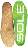 SOLE ACTIVE MEDIUM + MET PAD Shoe Insoles, Green, 6 M US Women / 4 M US Men
