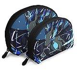JUKIL Chari-zard Bolsas portátiles Artículos de tocador Bolsas de Ahorro de Espacio Bolsa de Embrague Concha Organizador Bolso para Viajes Diarios